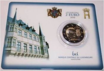 Luxembourg 2010 - CoinCard with 2€ comemorative coin