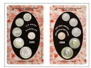Turkey 6 coins official set 2009 UNC