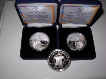 Greece Special Olympics 2011   10 + 10 Euro  Set   2 proof coins  RARE
