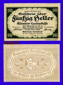 1920 AUSTRIA 50 HELLER P S108 UNC