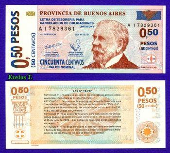 ARGENTINA BUENOS AIRES 0,50 CENTAVOS  PATACON UNC