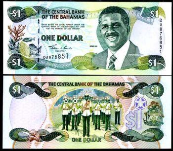 BAHAMAS 1 DOLLAR 2001 P 69 UNC