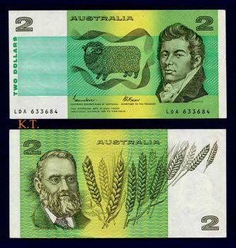 AUSTRALIA 2 DOLLARS 1974-1985 P-43 UNC