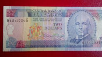 BARBADOS 20 DOLLARS P-69 2007 UNC