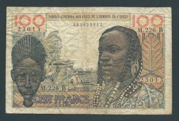 BENIN (WEST AFRICAN STATE) 1000 FRANCS 2003(2009) P-215b UNC