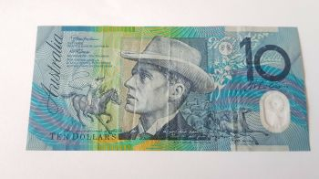 AUSTRALIA 10 DOLLARS 1988 P-49  POLYMER XF