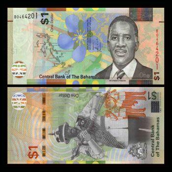 BAHAMAS 0.50 DOLLAR 2001 P68 UNC