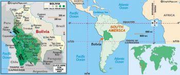 BOLIVIA SET (4) 50-100-500-1000 PESOS BOLIVIANOS UNC