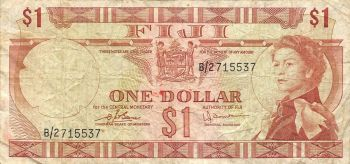 FIJI 5 DOLLARS 2007 P 110 QE II UNC