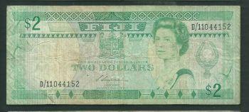 FIJI 10 DOLLARS 2002 P-106 UNC