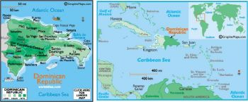 DOMINICAN REPUBLIC 25 CENTAVOS 1961 P-87 UNC