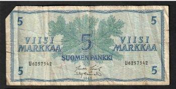 FINLAND SET 4 ΟΜΟΙΑ UNC ΧΑΡΤΟΝ/ΜΑΤΑ 1986 ΜΕ ΔΙΑΦΟΡΕΤΙΚΕΣ ΥΠΟΓΡΑΦΕΣ