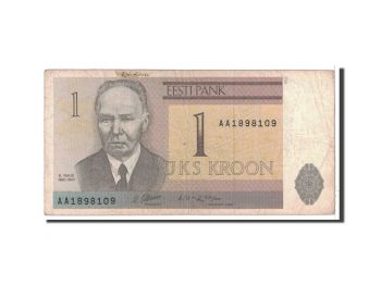 ESTONIA 1 KROON 1992 P 69 UNC