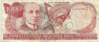 COSTA RICA 5000 Colones 2009 (2011) UNC