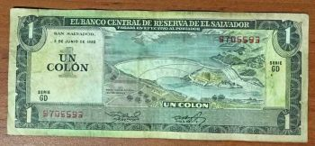 EL SALVADOR 1 COLON 1971  P-115  UNC