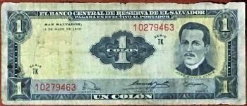 El Salvador, 1 Colon, 1980, UNC