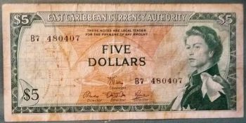 EAST CARIBBEAN $5 DOLLARS M (MONTSERRAT) 2003 UNC