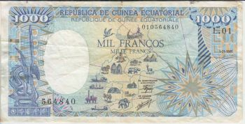 EQUATORIAL GUINEA (CENTRAL AFR.STATES) 1000 FR. P-502N UNC