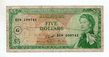 EAST CARIBBEAN 5$ DOLLARS V (Νήσος Αγ.Βικέντιος) UNC