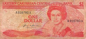 EAST CARIBBEAN 10$ DOLLARS K (Νήσος St.Kitts) UNC