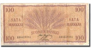 FINLAND 10 MARKKAA 1986 P-113 UNC (last pre-Euro)