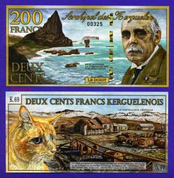 KERGUELEN ISLANDS (FRANCE) 200 FRANCS POLYMER 2010 UNC