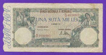 ROMANIA 100.000 LEI 1946 No 0119393
