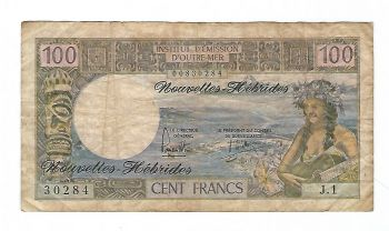 NEW HEBRIDES 500 Francs 1979 UNC