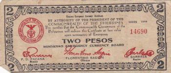 PHILIPPINES 2 PESOS 1941 P S625 XF-AUNC