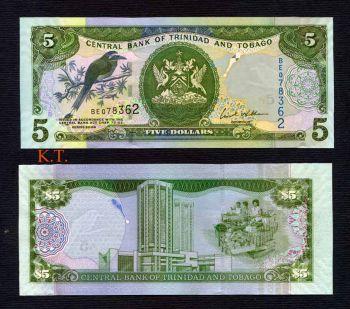 TRINIDAD & TOBAGO 5 DOLLAR 2006 UNC