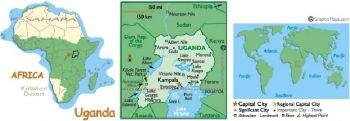UGANDA 5.000 SHILLINGS 2005 P-44 UNC