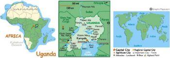 UGANDA 100 SHILLINGS 1966 P-5 UNC