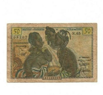 TOGO (WEST AFRICAN STATE) 1000 FRANCS 2003(04) P 815-T  UNC
