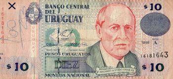 URUGUAY 10.000 PESOS ND (1974) P-53c UNC