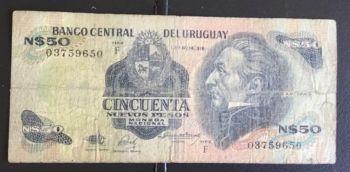 URUGUAY 1000 PESOS ND (1974) UNC