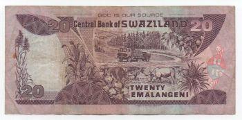 SWAZILAND 10 EMALAGENI 01.04.2001 P 29 UNC