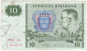 SWEDEN 5 KRONOR 1970 UNC
