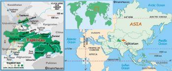 TAJIKISTAN SET(7)  1-5-10-20-50-100-200 RUBLES 1994 UNC