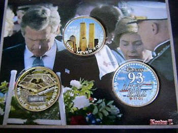 11/9 Set  3 Έγχρωμα USA  quarters