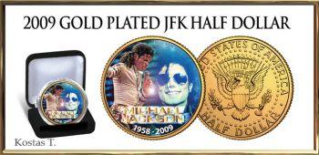 Michael Jackson 24Kt επίχρυσο USA Half Dollar