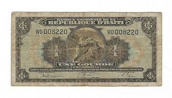 HAITI 1 GOURDE 1992 P-259 UNC