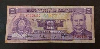 HONDURAS 50 LEMPIRAS 2008 UNC