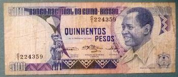 GUINEA BISSAU 1.000 PESOS 1978 P-8b UNC
