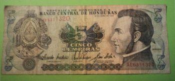 HONDURAS SET 4 χαρτονομίσματα 1-2-5-10 Lempiras, UNC