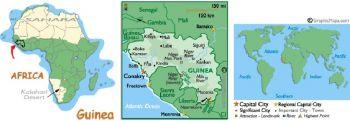 GUINEA 1000 FRANCS 1998 P 37 UNC