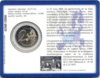 Luxemburg 2 Euro 2007 Coincard