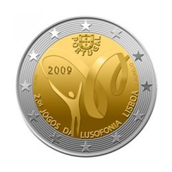 Portugal - 2 Euro, Lusophony Games, 2009