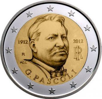 ITALY 2 EURO COIN 2012 - GIOVANNI PASCOLI UNC