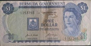 BERMUDA $1 1979 P-28 QEII UNC