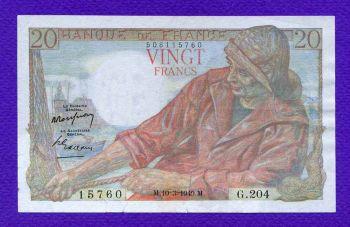 FRANCE 20 FRANCS 1949 (ΔΙΑΒΑΣΤΕ ΠΕΡΙΓΡΑΦΗ)